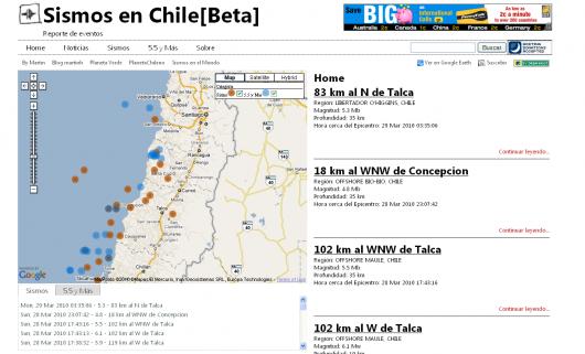Sismos en Chile