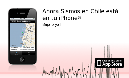 Sismos en Chile para iPhone